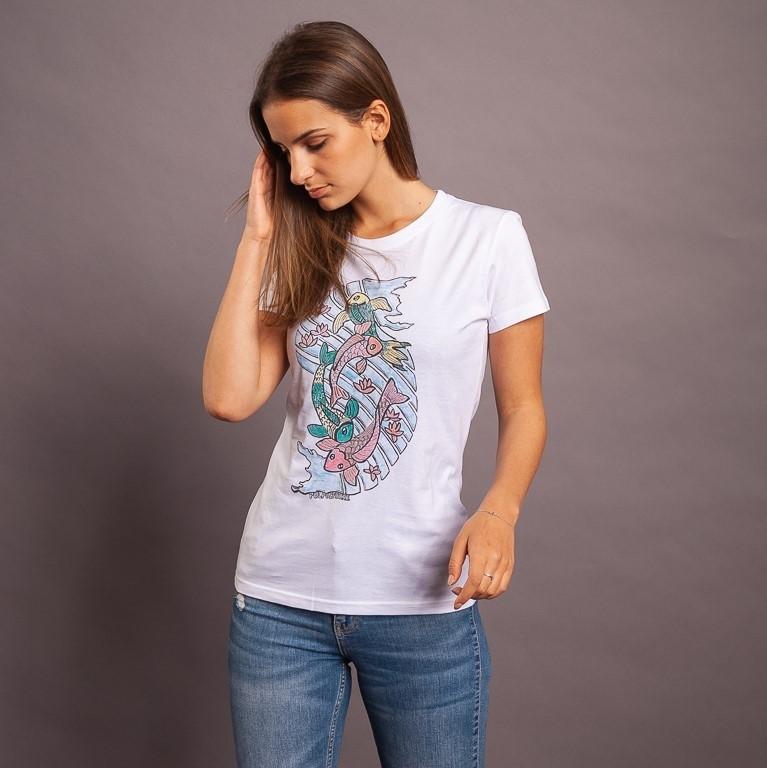 T-Shirt Kois, weiss