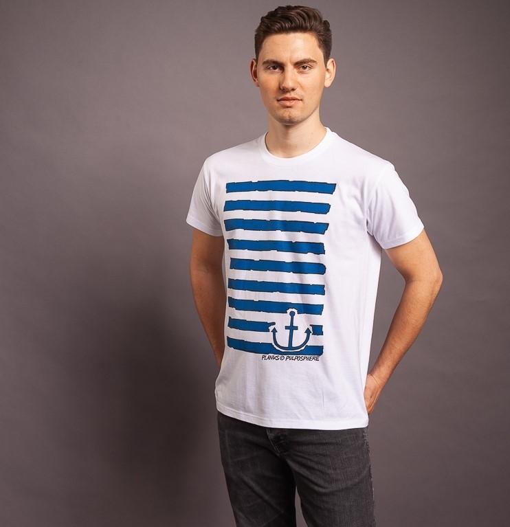 T-Shirt Planks, weiss