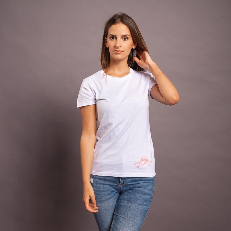 T-Shirt Pulpo/Logo, weiss