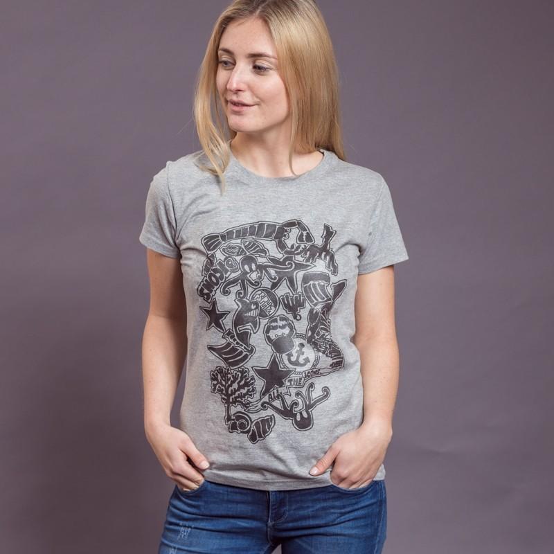 T-Shirt Icons, hellgrau