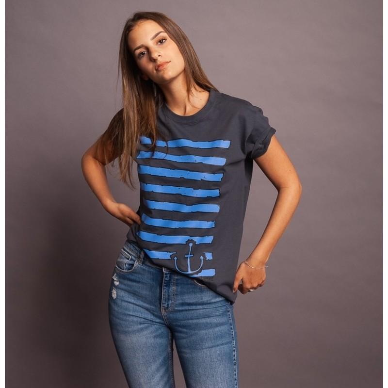 T-Shirt Planks, grau