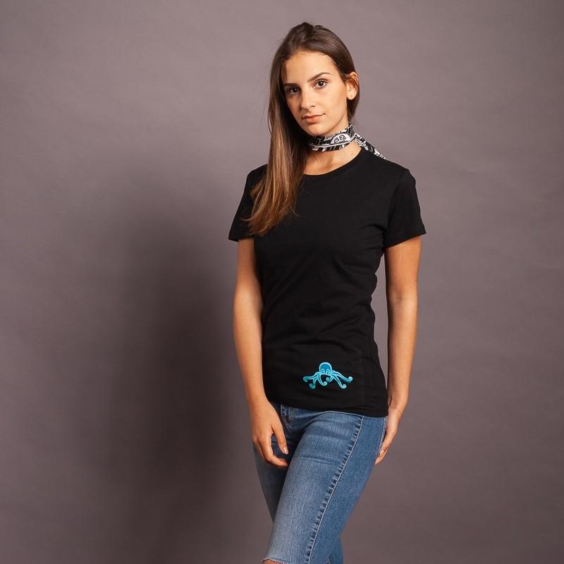 T-Shirt Pulpo/Logo, schwarz