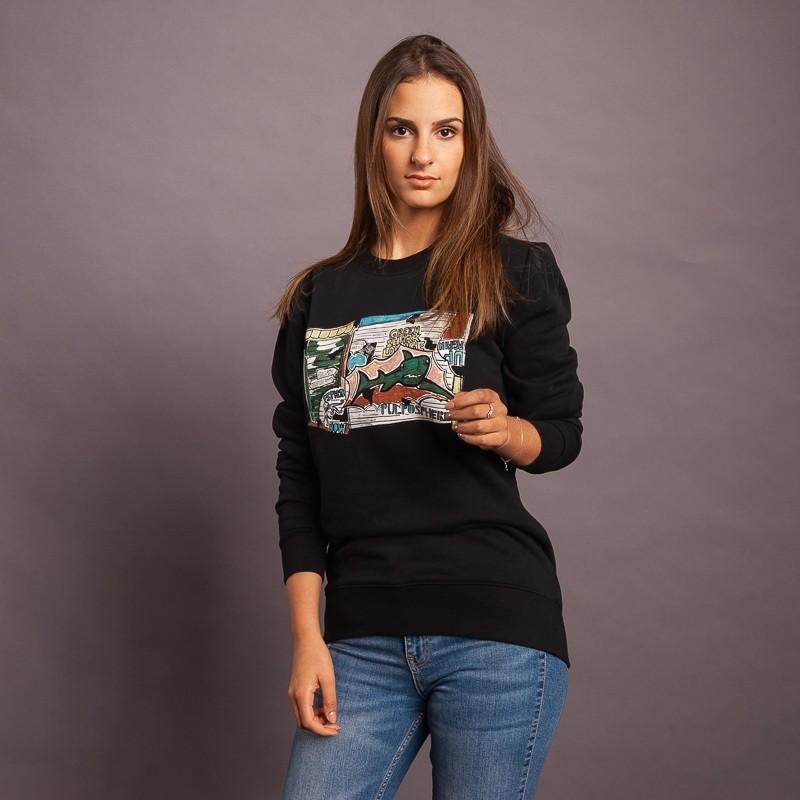 Sweatshirt Graffiti Garage, schwarz