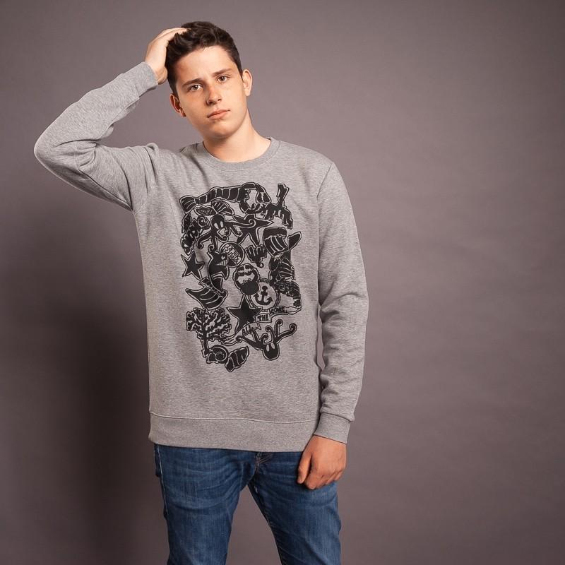 Sweatshirt Icons, hellgrau