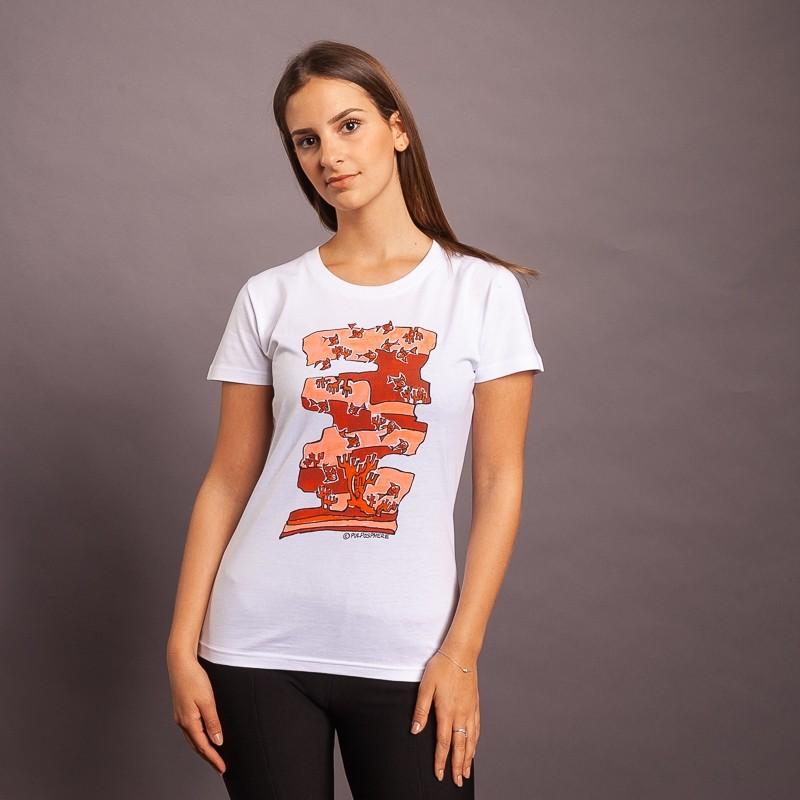 T-Shirt FishFish Camou, weiss/rot