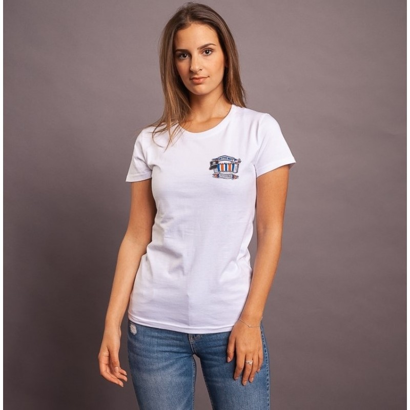 T-Shirt In The Navy, weiss