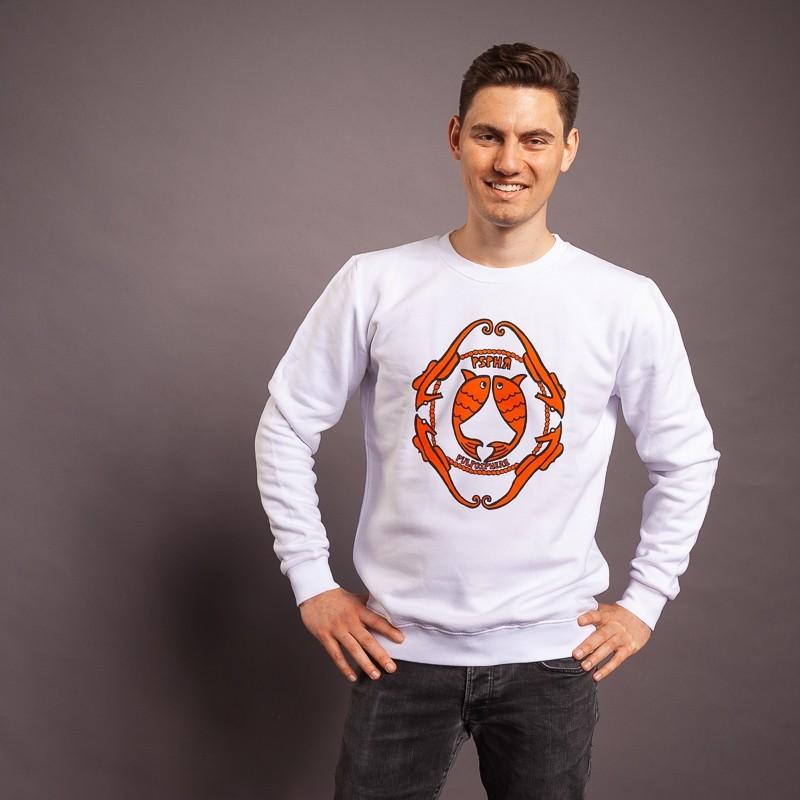Sweatshirt Seepferd/Emblem, weiss